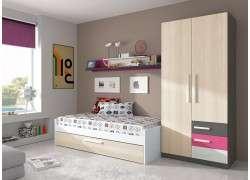 dormitori juvenil llit niu, armari i lleixa Manresa
