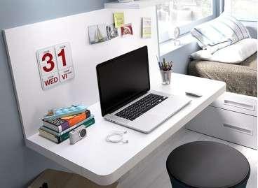 Mesa escritorio Barcelona en dos posiciones