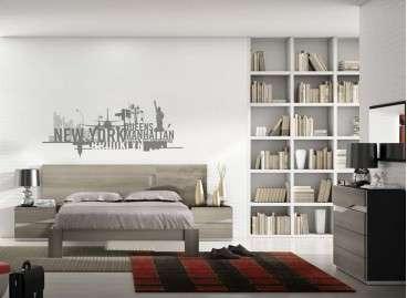 Dormitorio de diseño minimalista mod. Barberá