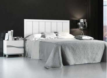 Cabecero de cama blanco para dormitorio