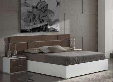 Dormitorio de matrimonio Mollet con cabecero y dos mesitas