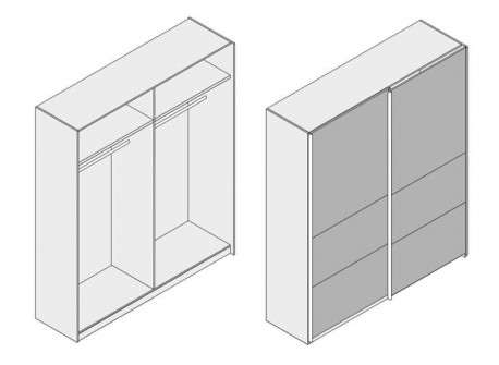 Armari dos portes corredisses amb vidre