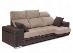 Sofá reclinable y extensible mod. Sabadell - Arcilla