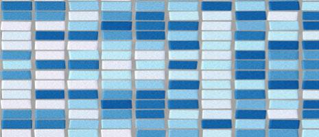 Decorar con colores. Cerámica azul