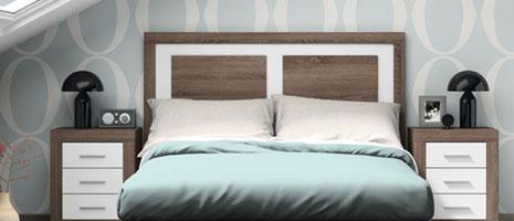 Decorar con colores. Conjunto de dormitorio Llobregat de Mobiprix