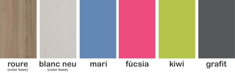 Colores de la colección Montacad de Mobiprix