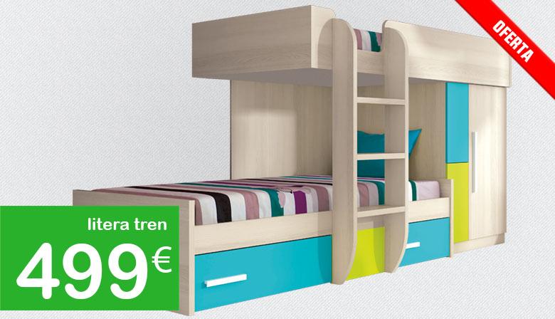 Muebles baratos las mejores ofertas en muebles en mobiprix for Camas tren baratas