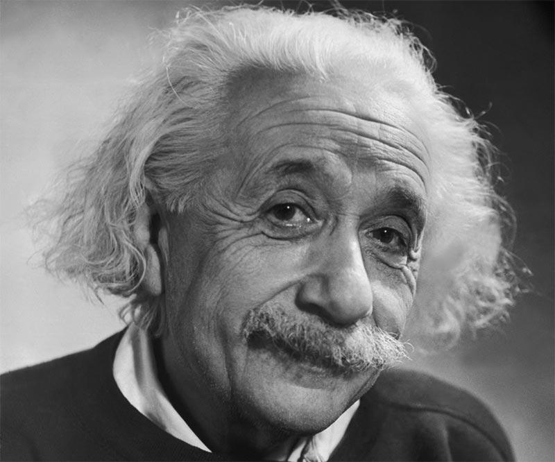 Foto de A. Einstein y sus frases célebres