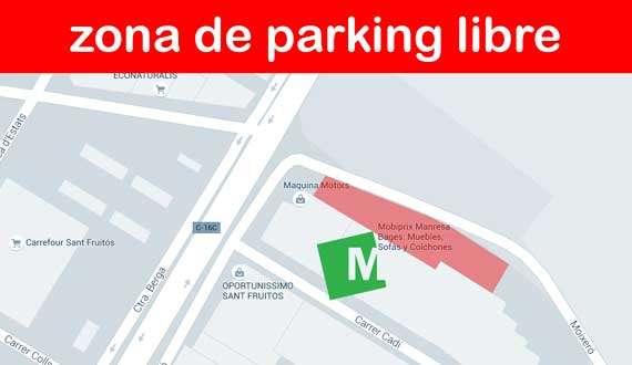 Parking Tienda de muebles, sofás y colchones en Manresa Bages - Mobiprix