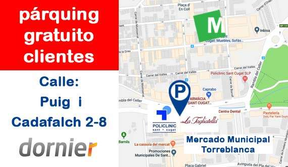 Parking Tienda de muebles, sofás y colchones en Sant Cugat del Vallès - Mobiprix