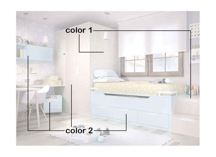 Habitación juvenil con armario armario vestidor