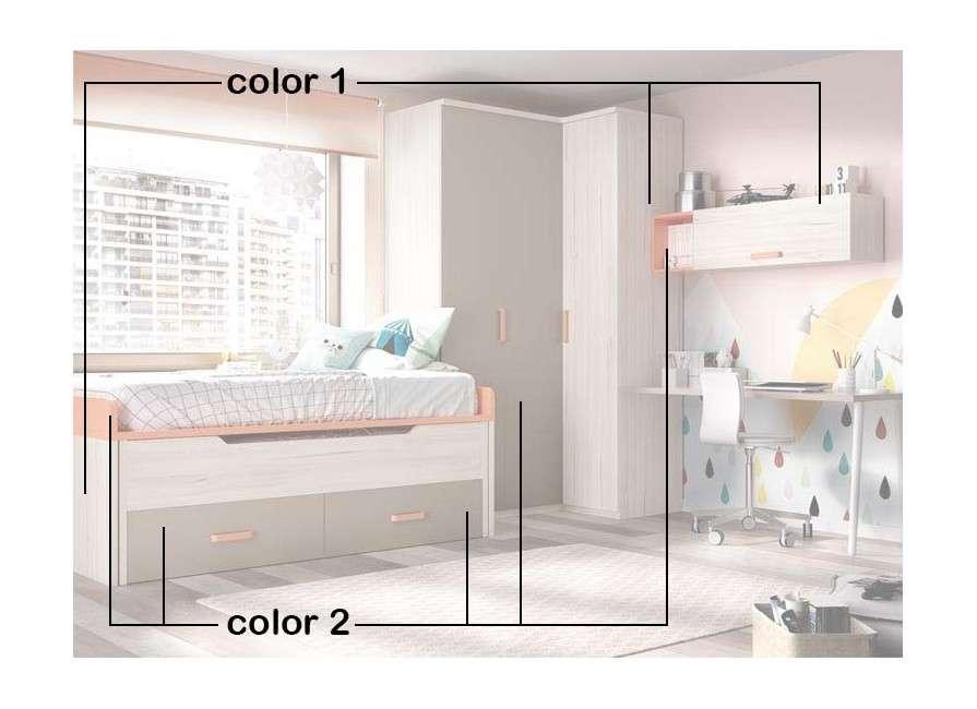 Conjunt juvenil amb llit compacte i raconer