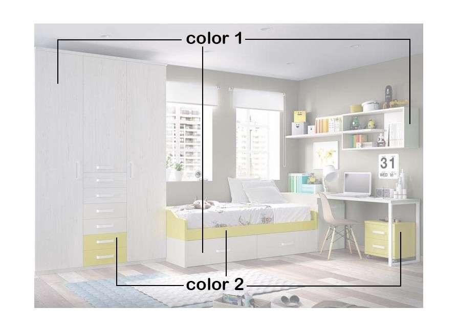 Habitació juvenil amb llit niu completa