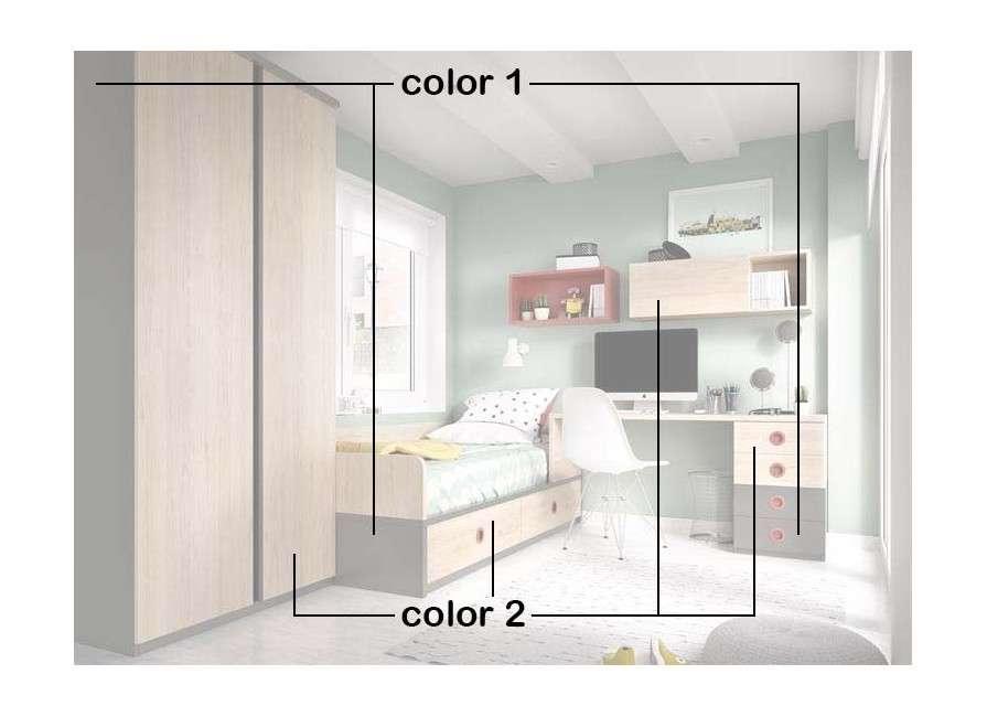 Habitació juvenil completa amb llit niu
