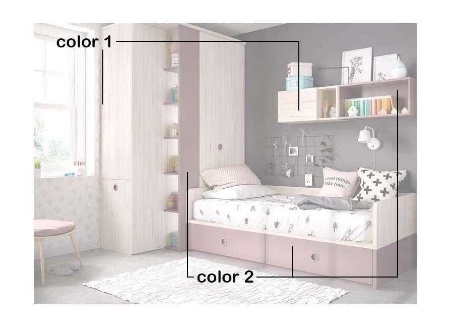 Habitación juvenil ideal para habitación pequeña