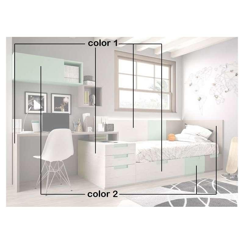Habitación juvenil completa con cama modular