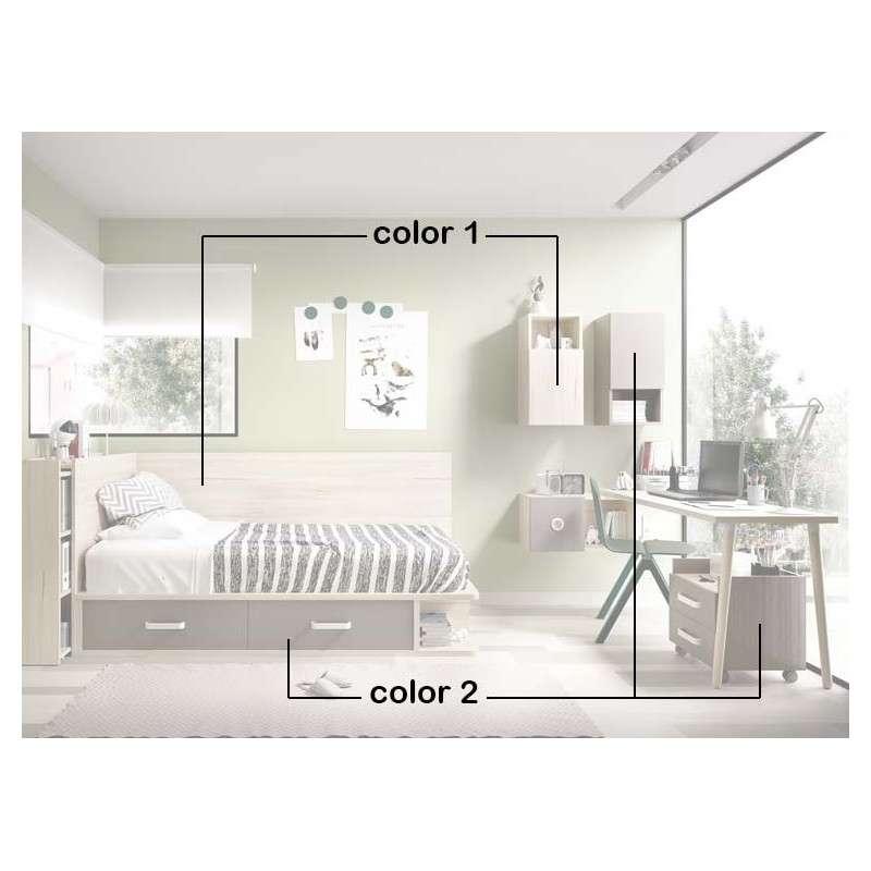 Composición modular para habitación juvenil