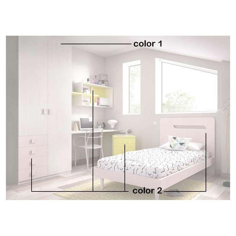 Conjunt per a habitació juvenil amb llit individual