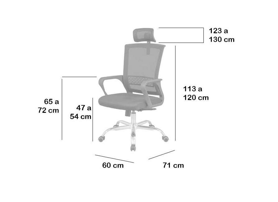 Cadira d'estudi i oficina, amb capçal, model Ober
