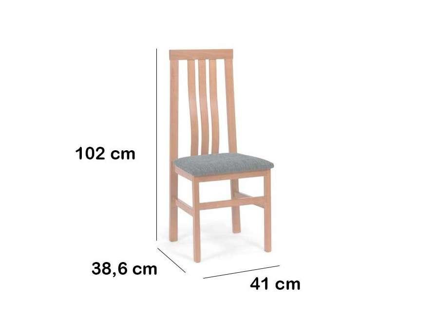Cadira per a menjador Karen, en fusta massissa