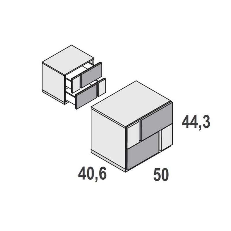 Composició de capçal més tauletes Sant Adrià