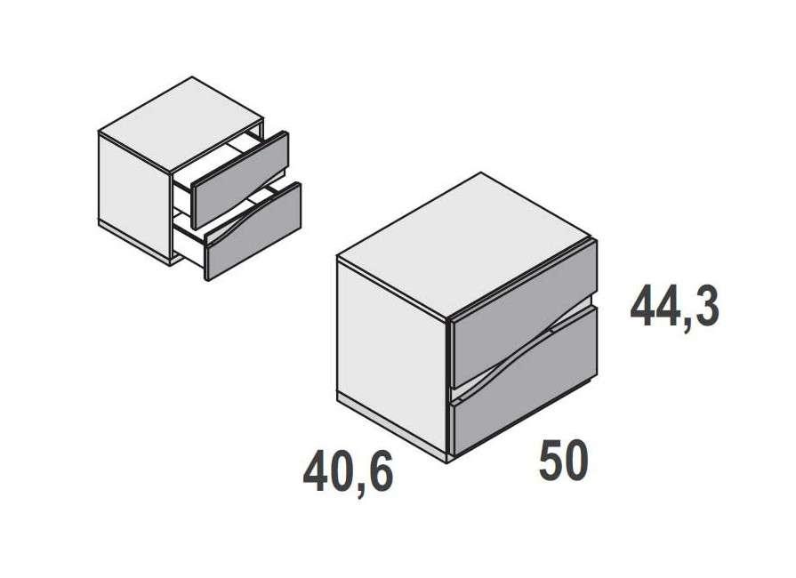 Composició Caldes amb capçal i dues tauletes