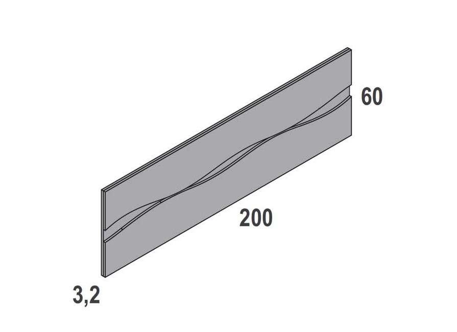 Composició amb capçal Caldes i dues tauletes Caldes de 3 calaixos