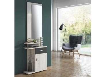 Mueble de recibidor con espejo Umbría - Mozart - antracita