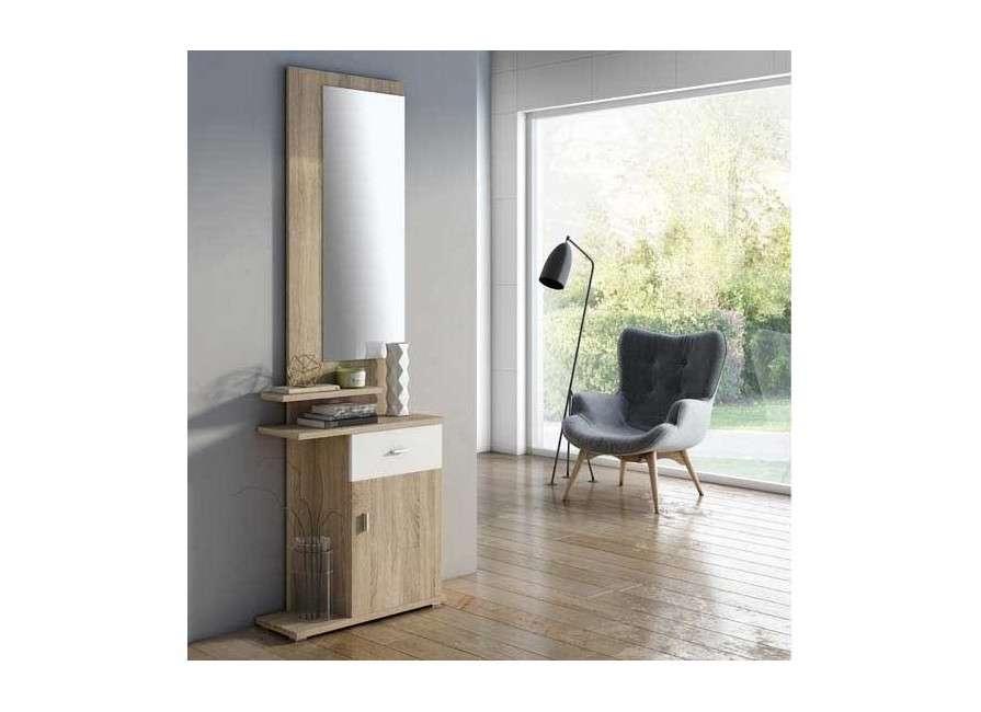 Mueble de recibidor con espejo Umbría