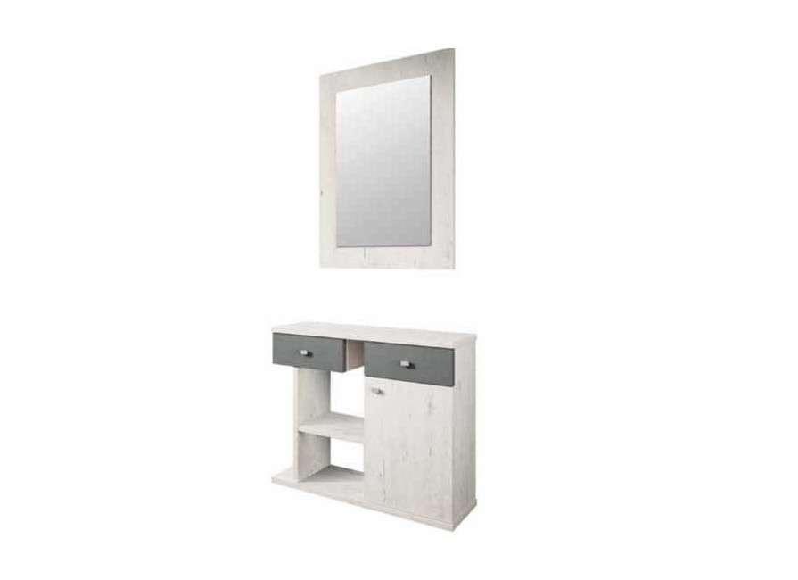 Conjunto para recibidor con espejo Lazio