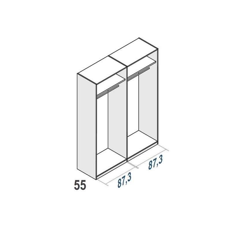 Armario de 4 puertas batientes