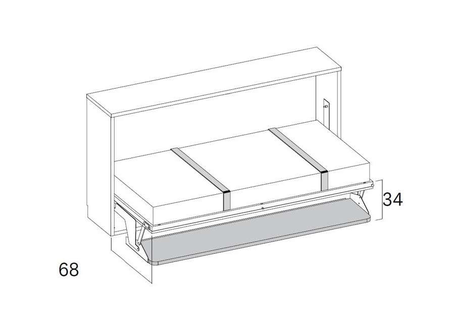 Habitació amb moble llit abatible individual