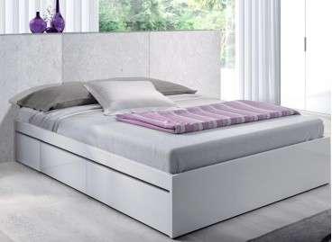 Estructura de cama con cajones mod. Mataró de 150cm - Blanco