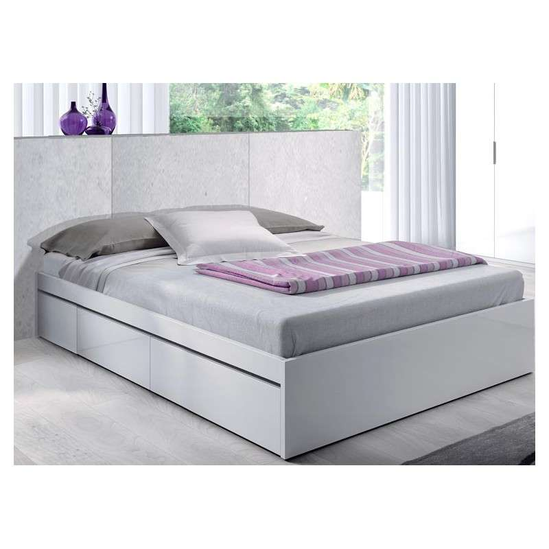 Estructura de cama con cajones mod. Mataró de 150cm