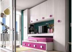 Habitación juvenil con cama desplazable