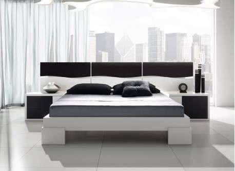 Dormitorio de matrimonio mod. Manresa en cerezo y blanco