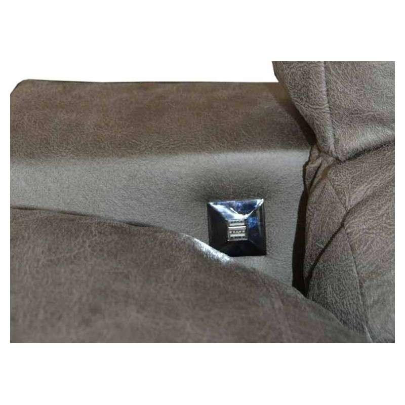 Sofá chaiselongue Badía con cargador USB