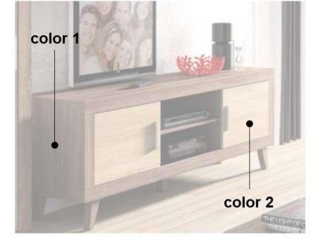 Moble de TV ample amb potes