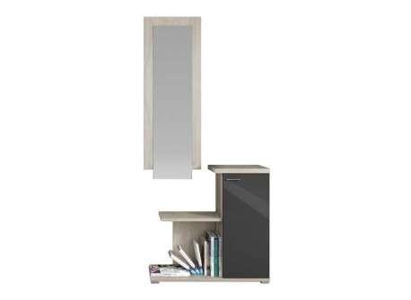 Mueble de recibidor con armario y espejo mod. Sant Fruitós