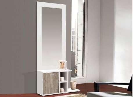 ((Mueble para recibidor mural con espejo Tarragona