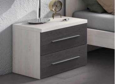 Mesita de noche modelo Horta - Blanco nórdico