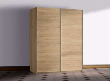Armario juvenil de puertas correderas modelo Salenques - Blanco nórdico