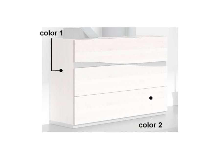 Còmoda de 3-4 calaixos per a dormitori mod. Caldes