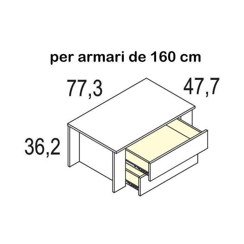 Armario juvenil de puertas correderas modelo Sabadell