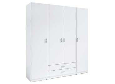 Armario de 4 puertas y 2 cajones Ripollet - Blanco