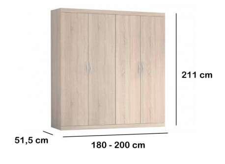 Armario de dormitorio modelo Vilanova