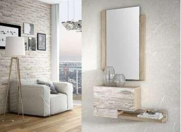 Conjunto de recibidor Reus, con consola y espejo