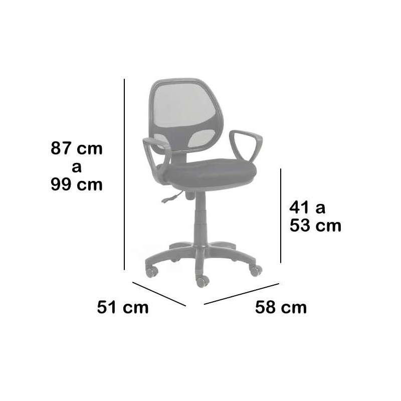 Silla escritorio giratoria Sants