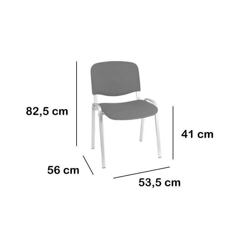 Silla metálica con asiento/respaldo en PVC Barcelona