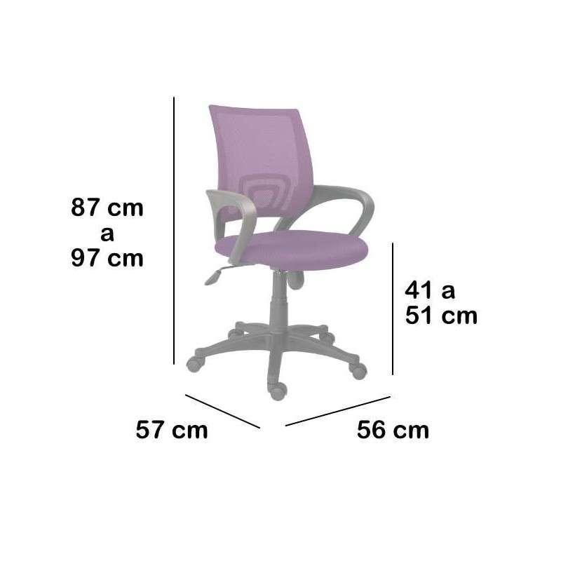Silla de oficina ergonómica y transpirable Sitges